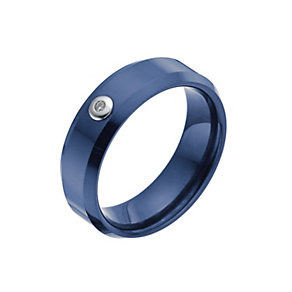 Blue Ceramic Diamond Ring - Product number 9993045