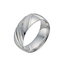 Men's Sterling Silver Diamond Pattern Ring - Product number 9993657