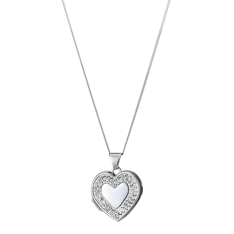 Sterling Silver Crystal Heart Locket - Product number 9995080