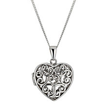 Sterling Silver Filigree Locket - Product number 9995102