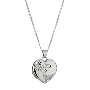 Sterling Silver Butterfly Locket - Product number 9995153