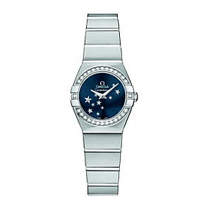 Omega Constellation ladies' stainless steel diamond watch - Product number 9995617