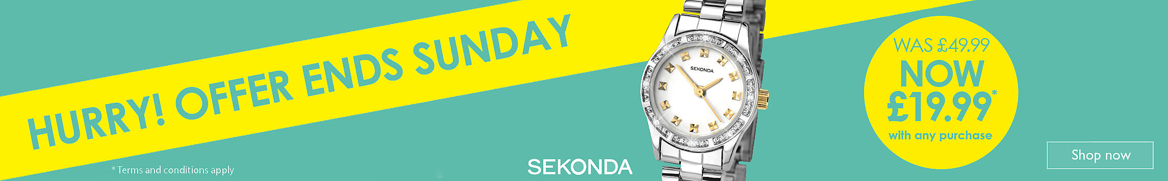 £30 off Sekonda Watch
