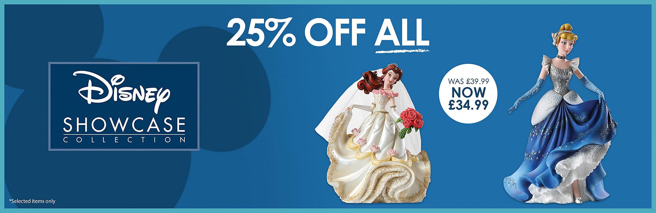 25% off All Disney Showcase