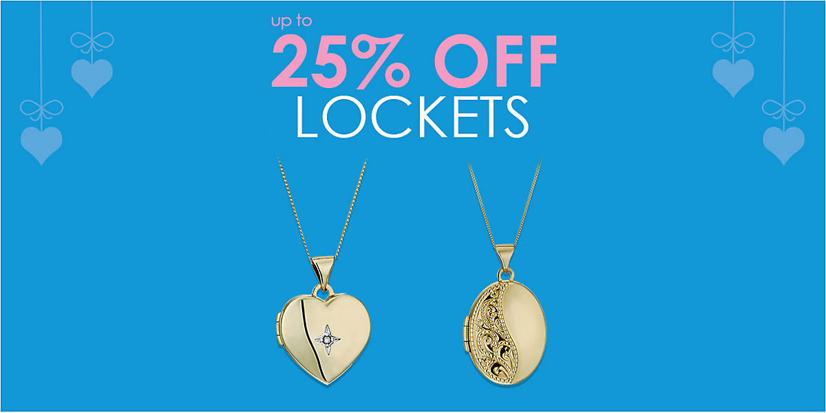 up to 25% off Lockets