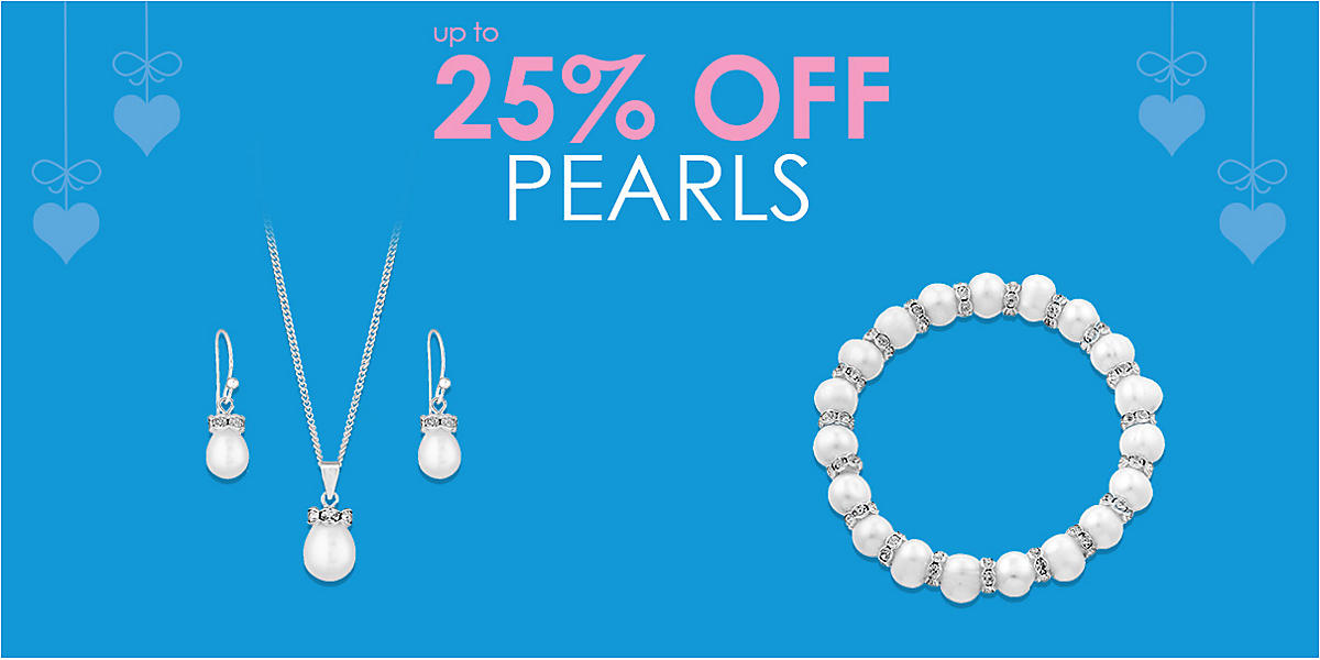 up to 25% off Pearls