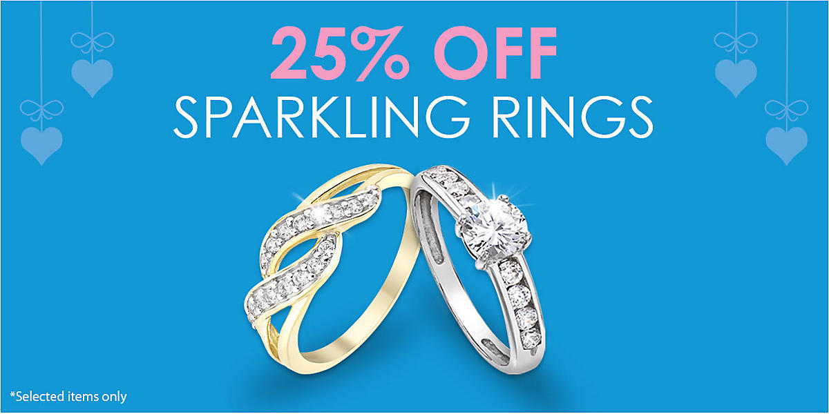 25% off Sparkling Rings