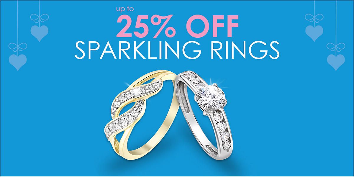 up to 25% off Sparkling Rings