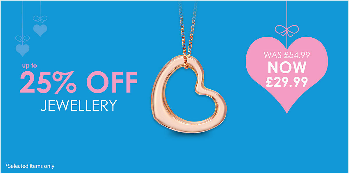 Up to 25% off Jewellery