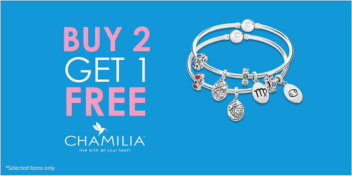 Buy 2 Get 1 Free on Chamilia