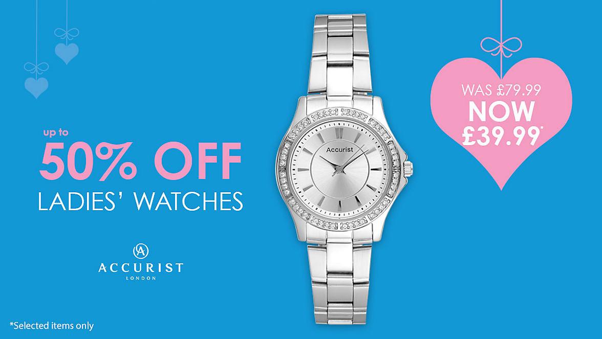 50% Off Women's Watches