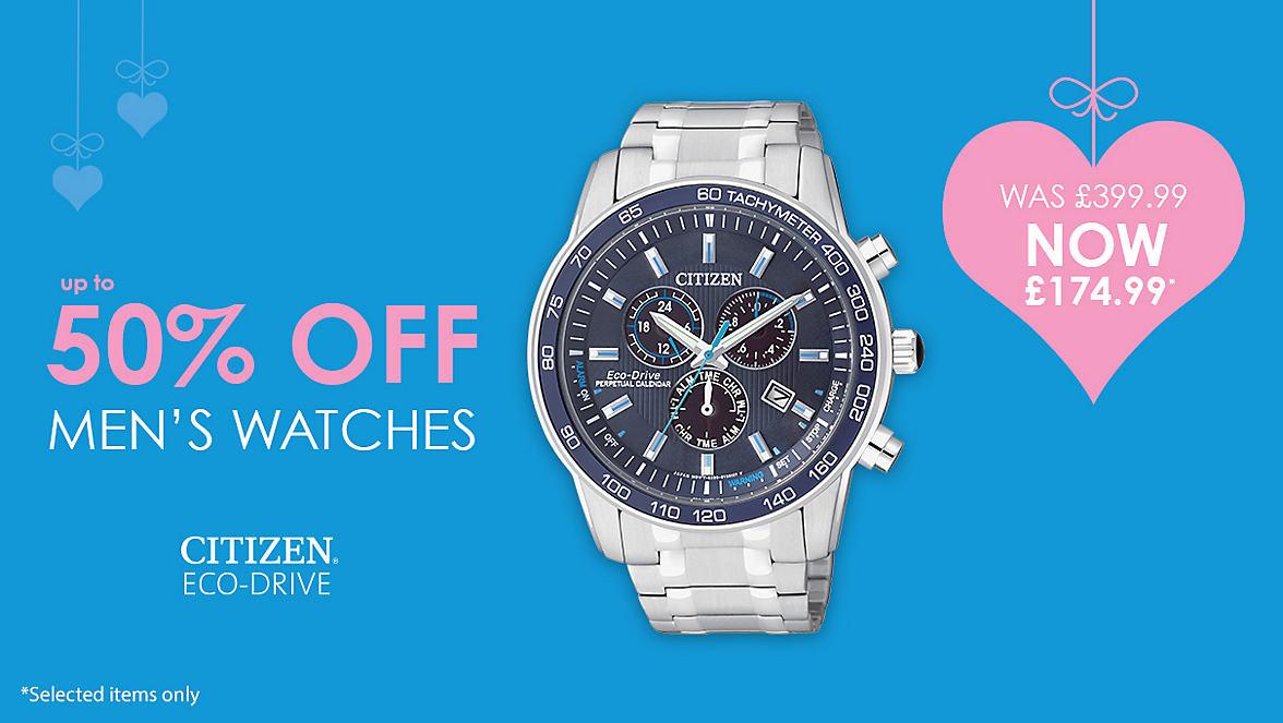 50% Off Men's Watches