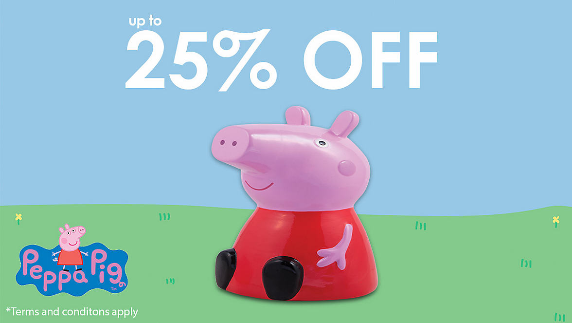 up to 25% off Peppa Pig