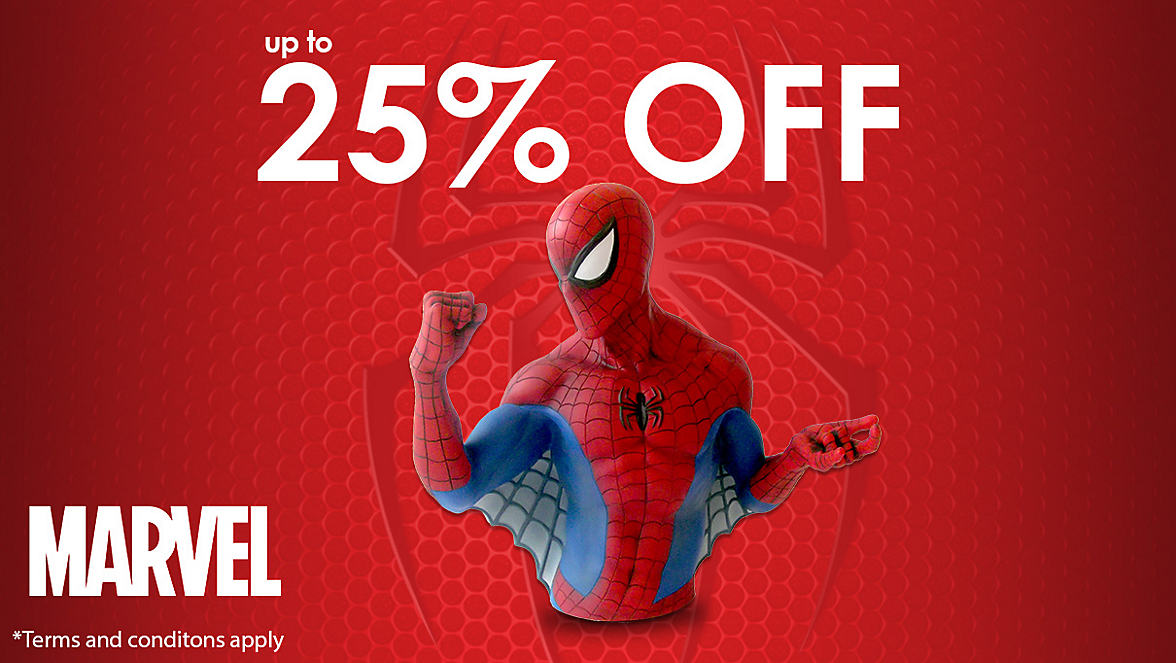 up to 25% off Marvel