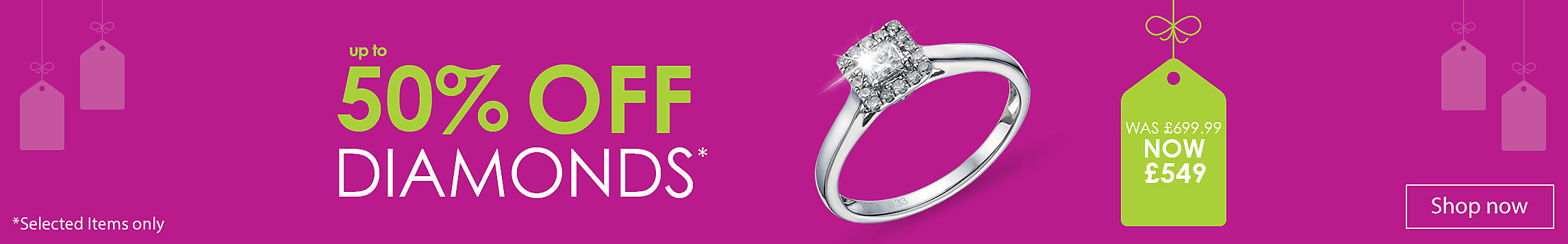 up to 50% off Diamonds