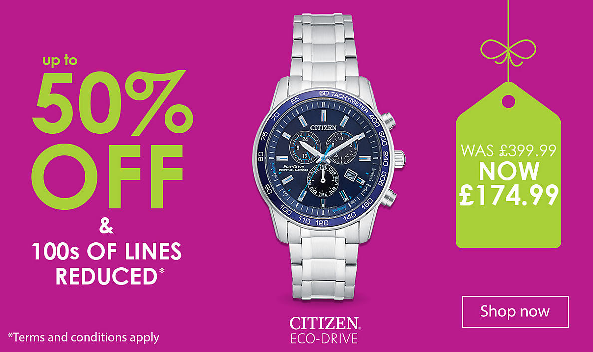 up to 50% off Men's Watches