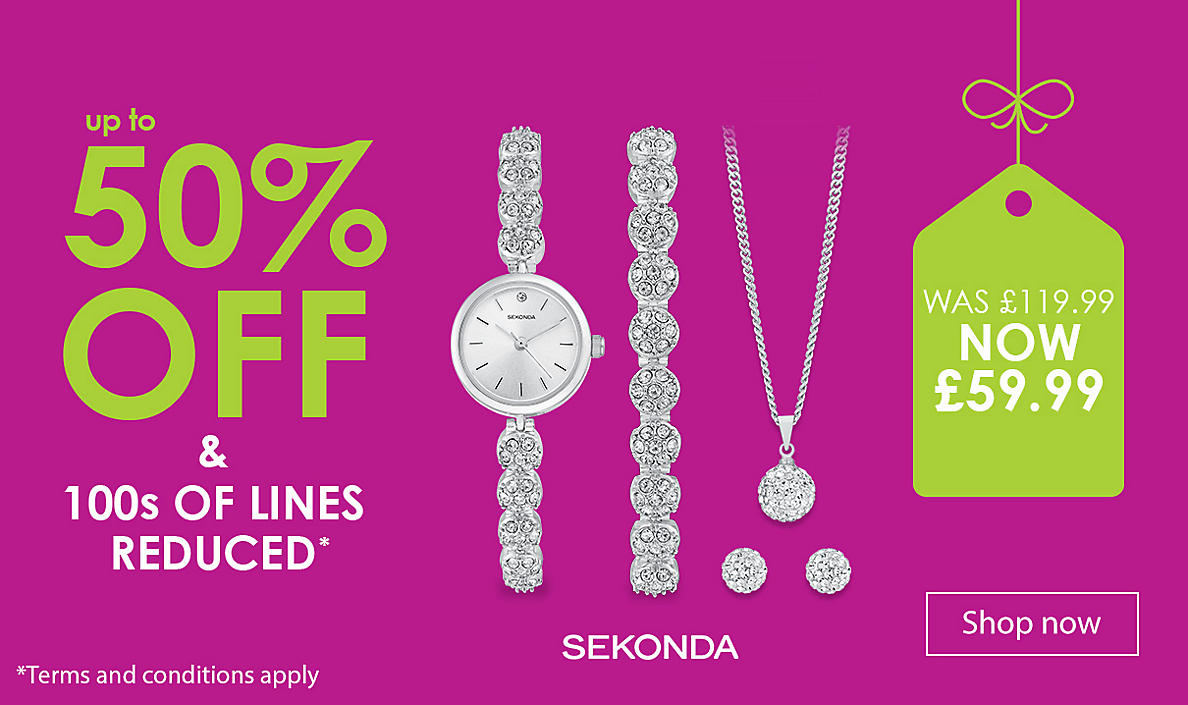 up to 50% off Ladies' Watches