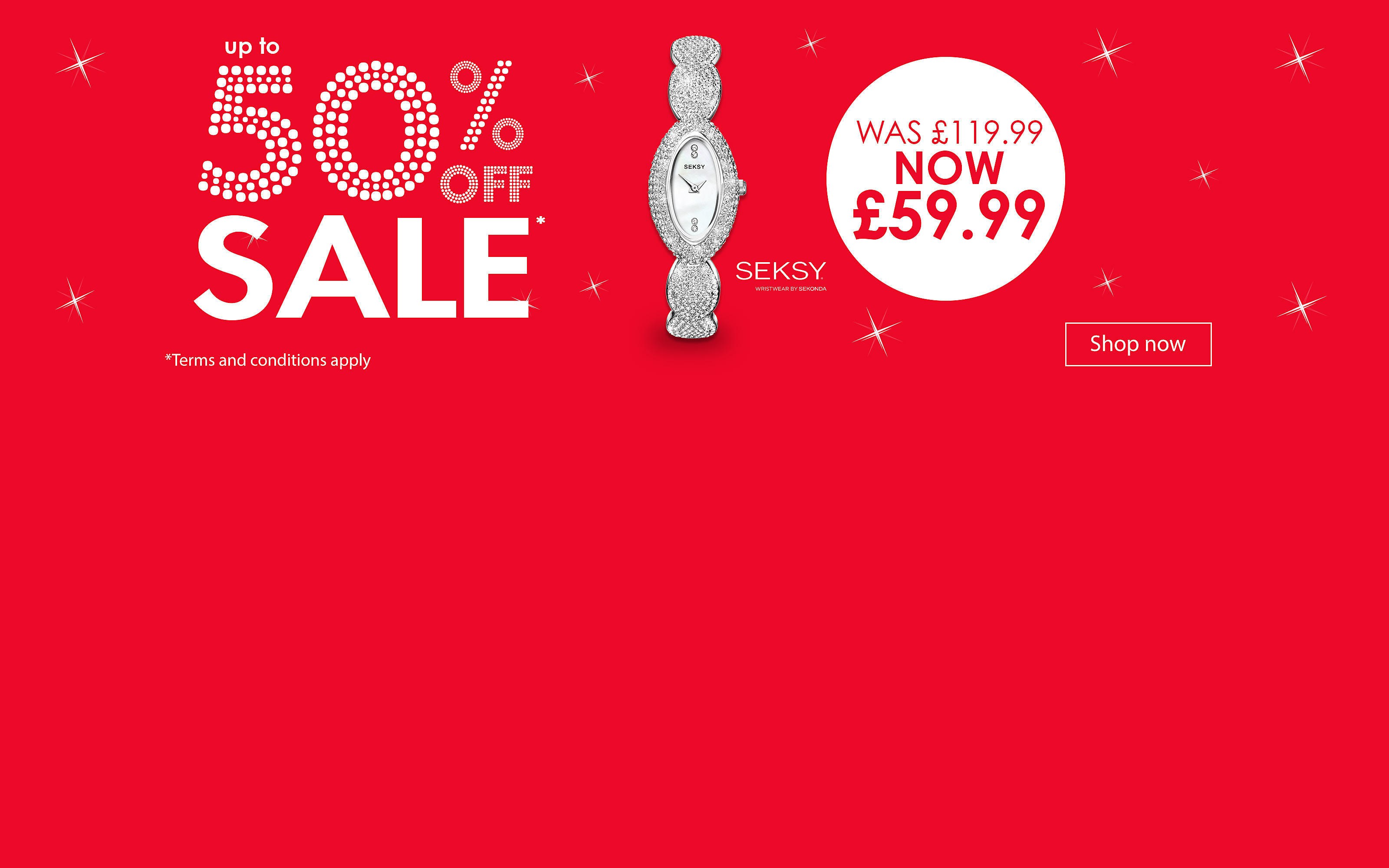 Mid Season Sale:up to 50% off Watches