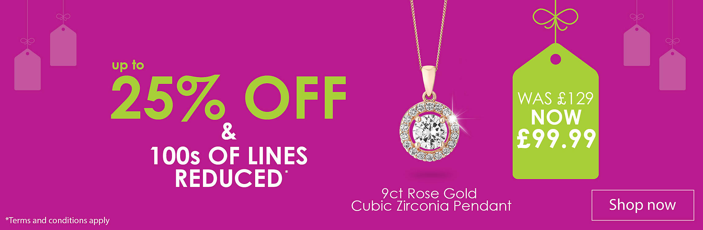 up to 25 off Jewellery