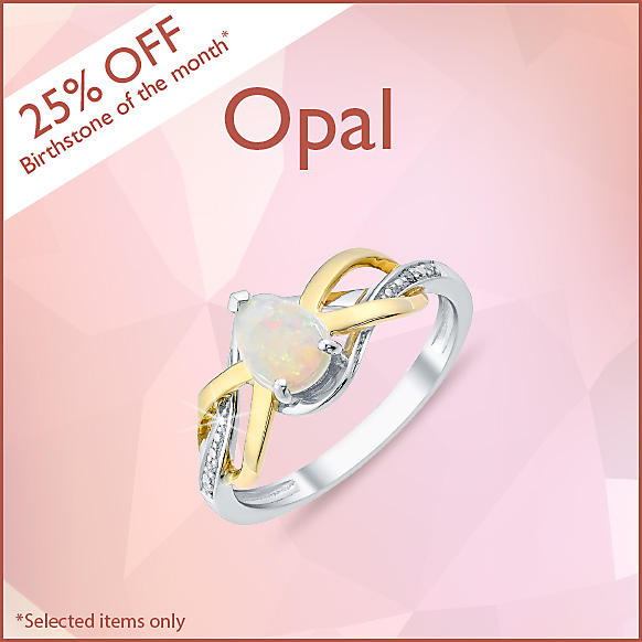 25% off October's Birthstone