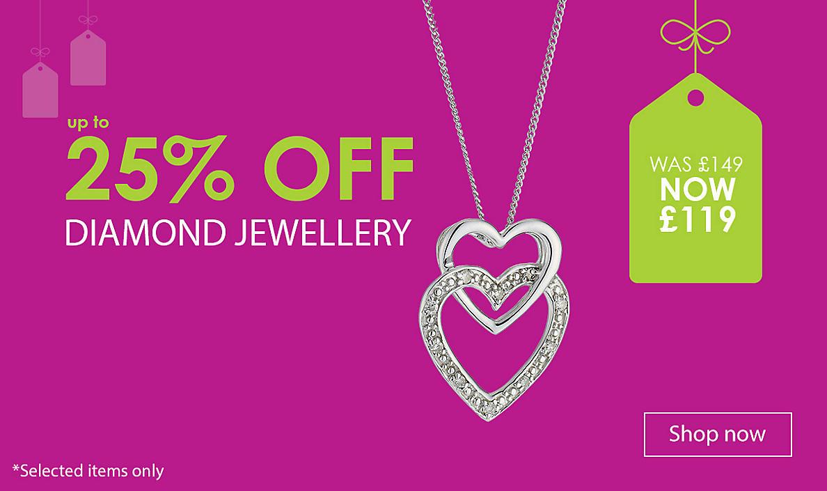 up to 25% off Diamond Jewellery