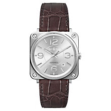 Bell & Ross Officer men's stainless steel brown strap watch - Product number 1365673