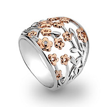 Hot Diamonds Sterling Silver Two Tone Ring Size P - Product number 1457861