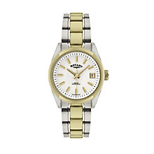 Rotary ladies' white dial two colour bracelet watch - Product number 1458086