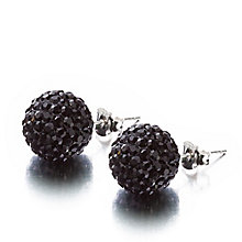 Shimla Jet Black Small Fireball Earrings - Product number 1484583