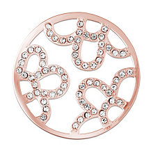 Lucet Mundi rose gold-plated stone set floral coin - small - Product number 2064359