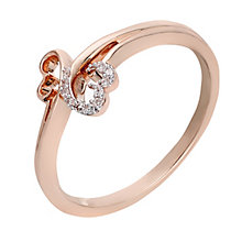 Open Hearts By Jane Seymour 9ct Rose Gold Diamond Ring - Product number 2159910