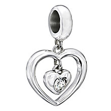 Chamilia Silver White Swarovski Crystal Heart Bead - Product number 2177757