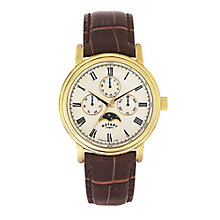 Rotary Men's Champagne Dial Brown Leather Strap Watch - Product number 3542378