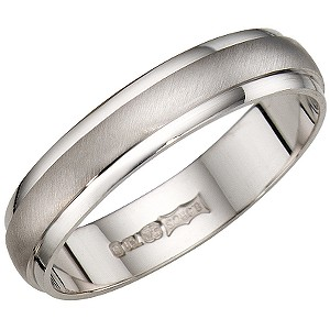 Bride S 18ct White Gold 4mm Plain Wedding Band