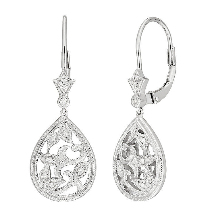 neil earrings neil designs silver filigree drop earrings 5320