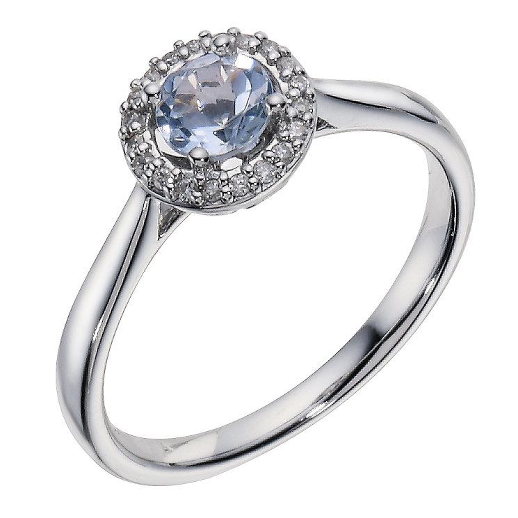 H Samuel Aquamarine Ring